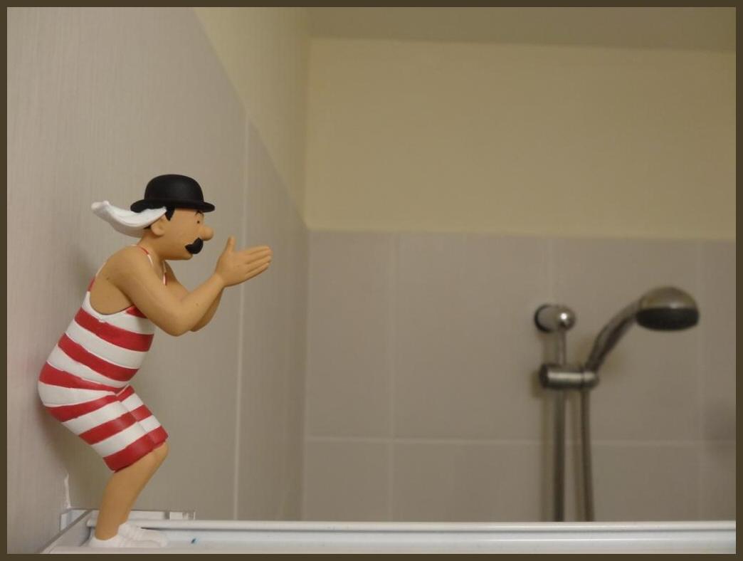 Met Jansen onder de douche.